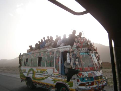 12.1 Bus with many people