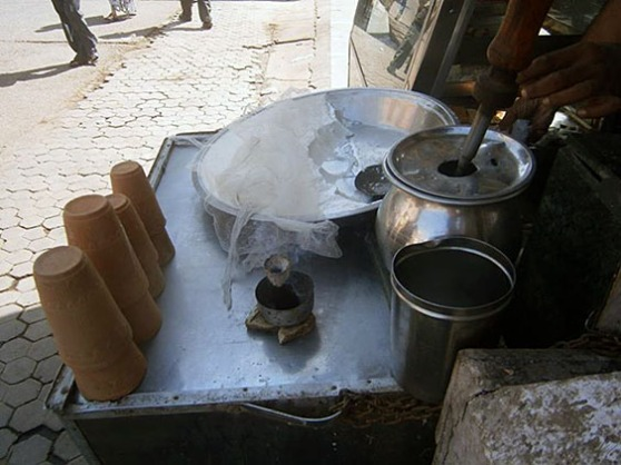 10. Lassi - sweat yoghurt served in clay cups which are for one use only