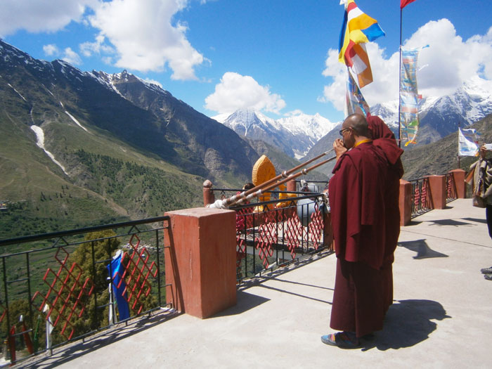 6. Buddhist Monks in the Monastery on the Way
